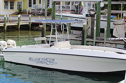 Paramount 26' with double engine from our boat rental