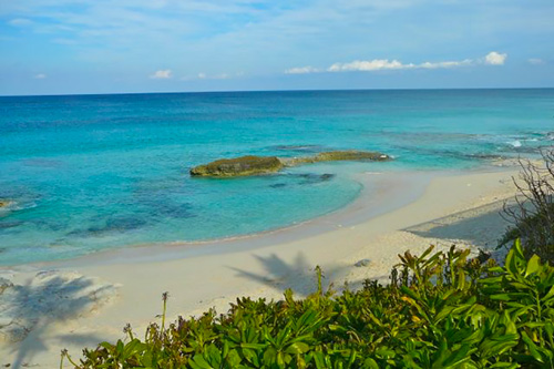 The beach in Great Guana Cay