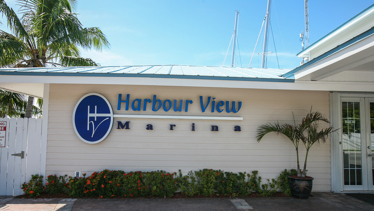 Harbour View Marina in Marsh Harbour, Abaco - from the street