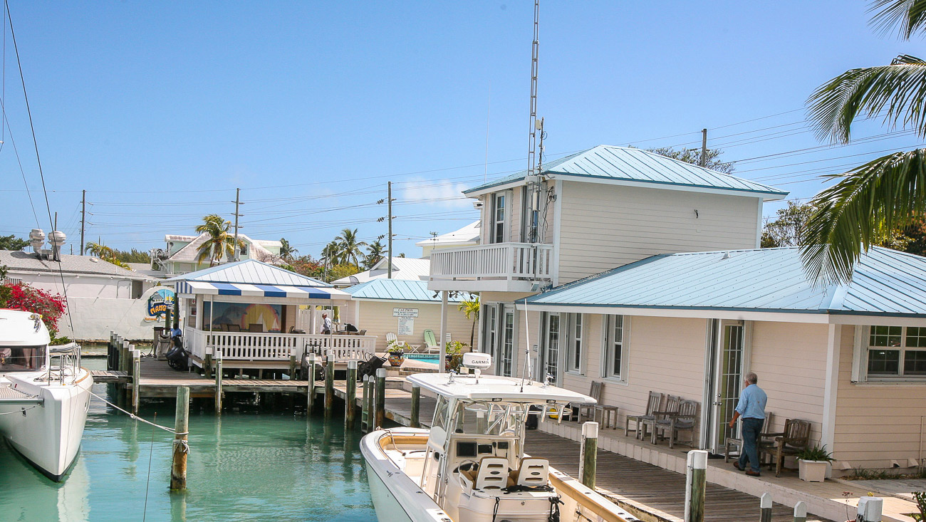 Harbour View Marina in Marsh Harbour, Abaco - View from Snappa's to the Marina